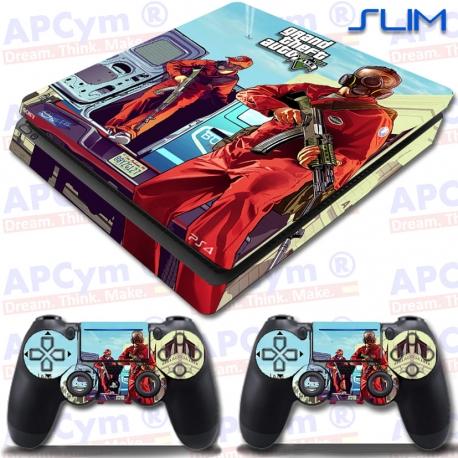 Vinilo PS4 Slim GTA V Red