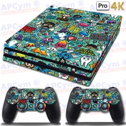 Vinilo PS4 PRO 4K Green Back