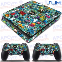 Vinilo PS4 Slim Green Back
