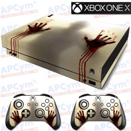 Vinilo Xbox One X Manos de Sangre Zombie