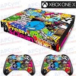Vinilo Xbox One X Stickers SEGA