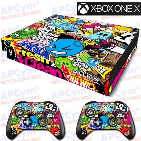 Vinilo Xbox One X Stickers SEGA