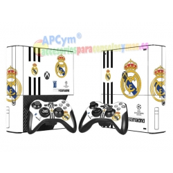 Vinilo Xbox 360 Serie E Hala Madrid Blanca
