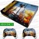 Vinilo Xbox One Slim Battlegrounds con Rejilla