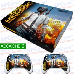 Vinilo Xbox One Slim Battlegrounds con Rejilla