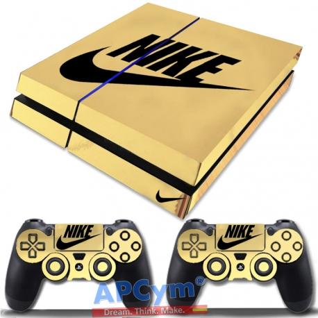 Vinilo PS4 Fat Oro Efecto Espejo Nike