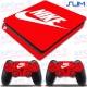 Vinilo PS4 Slim Decorativo Rojo