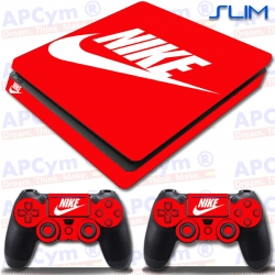 Vinilo PS4 Slim Decorativo Rojo