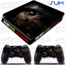 Vinilo PS4 Slim COD WWII Nazi Zombies