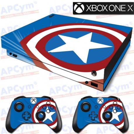 Vinilo Xbox One X Escudo Capitan America