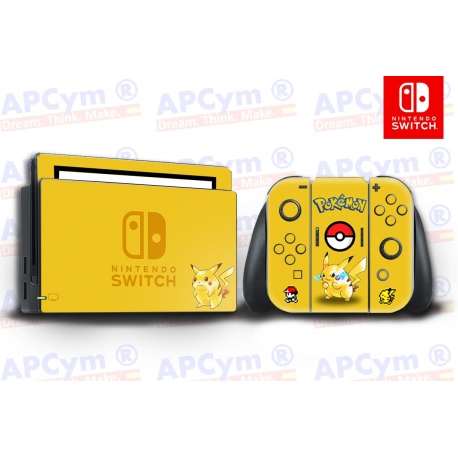 Vinilo Nintendo Switch Pokemon Pikachu