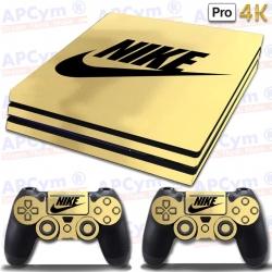 Vinilo PS4 PRO 4K Oro Efecto Espejo Decorativo