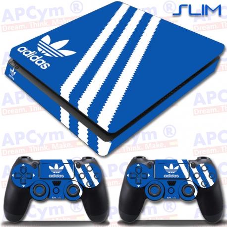 Vinilo PS4 Slim Decorativo Azul