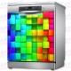 Vinilo Para Lavavajillas Cubos de Colores