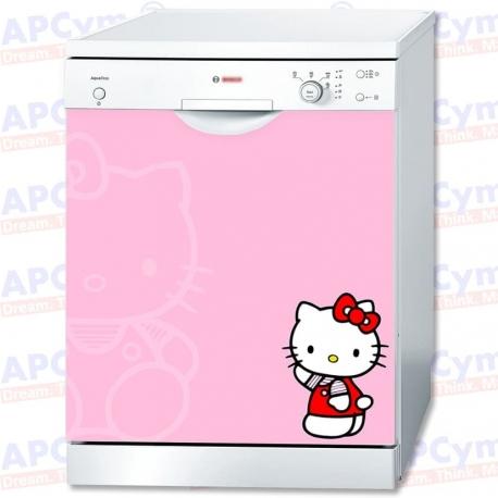Vinilo Para Lavavajillas Kitty Pink