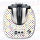 Vinilo Thermomix TM5 Puntos de Colores Blanca