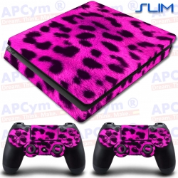 Vinilo PS4 Slim Leopardo Rosa