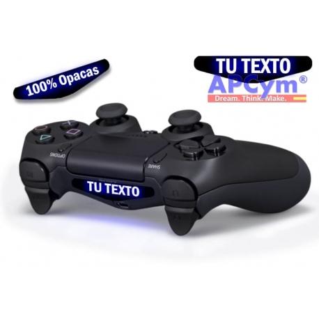 Personaliza Luz mando PS4 con tu Nombre 100% Opaco