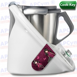 Vinilo Cook Key Thermomix TM5 Muñecas Rosas