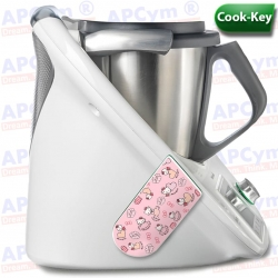 Vinilo Cook Key Thermomix TM5 Pink Cat