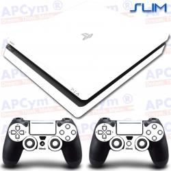 Vinilo para PS4 Slim Blanca Lisa