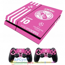 Vinilo Playstation 4 Modelo Hala Madrid Fucsia