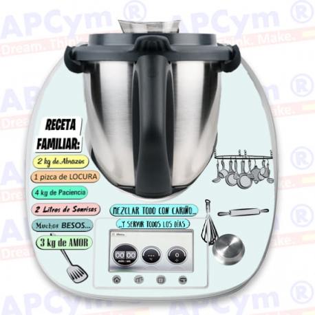 Vinilo Thermomix TM5 Receta Familiar