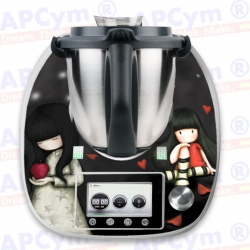 Vinilo Thermomix TM5 Muñecas Black