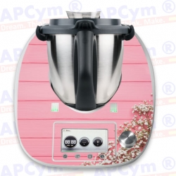 Vinilo Thermomix TM5 Tabla Rosa Flores