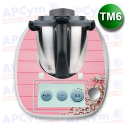 Vinilo Thermomix TM6 Tabla Rosa Flores