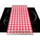 Vinilo Panel Thermomix TM31 Mantel Blanco Rojo