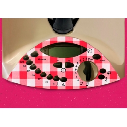 Vinilo Panel Thermomix TM31 Mantel Blanco Rojo