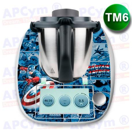 Vinilo Thermomix TM6 Capitan America