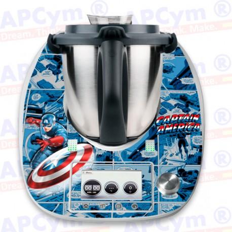 Vinilo Thermomix TM5 Capitan America
