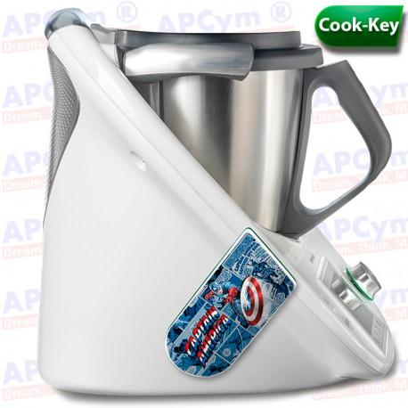 Vinilo Cook Key Thermomix TM5 Capitan America
