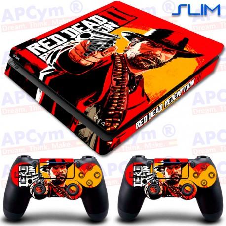 Vinilo PS4 Slim Red Dead 2