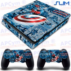 Vinilo PS4 Slim Capitan America Comic