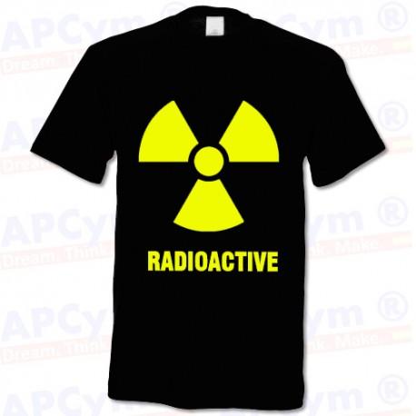 Camiseta Radioactive Caution radiacion