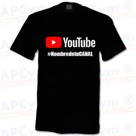 Camiseta Tu Canal YouTube Negra