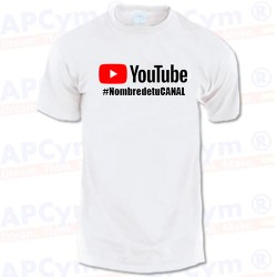 Camiseta Tu Canal YouTube Blanca