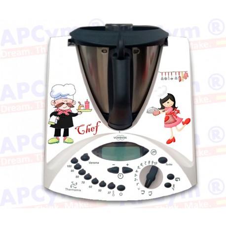 Vinilo Thermomix TM31 Completo Chef Cocinera
