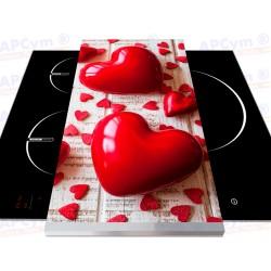 Vinilo para Tablas Thermomix Red Hearts