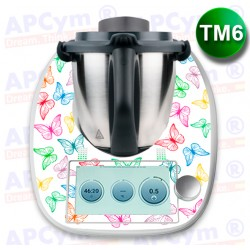 Vinilo Thermomix TM6 Mariposas de Colores