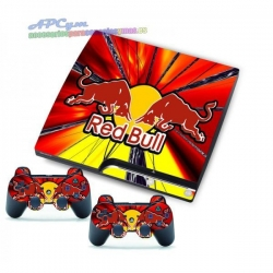 Vinilo Playstation 3 Slim Modelo Red Bull