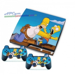 Vinilo Playstation 3 Slim Modelo Simpsons
