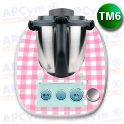 Vinilo Thermomix TM6 Mantel Rosa