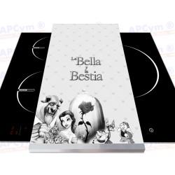 Tabla + Vinilo + Ruedas para Thermomix o Mambo Bella Bestia B&N