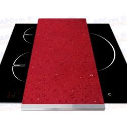 Tabla + Vinilo + Ruedas para Robots de Cocina Piedras Rojas