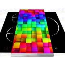 Tabla + Vinilo + Ruedas para Robots de Cocina Cubos de Colores