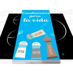 Tabla + Vinilo + Ruedas para Robots de Cocina Condimentos Para La Vida